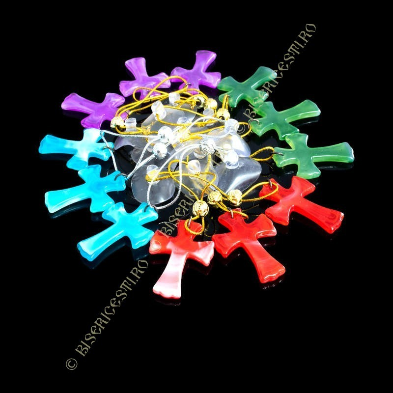 Obiecte bisericesti Medalion auto cruce din plastic  Ventani 2539