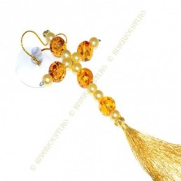 Obiecte bisericesti Medalion auto cruce margele amber Ventani 2540