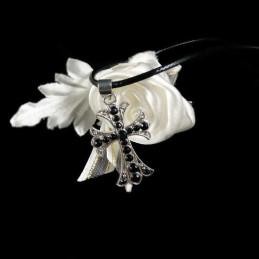 Obiecte bisericesti | Colier cruce metalica filigranata | 1800