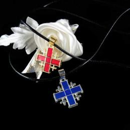 Obiecte bisericesti | Colier cruce metalica Ierusalim | 1804