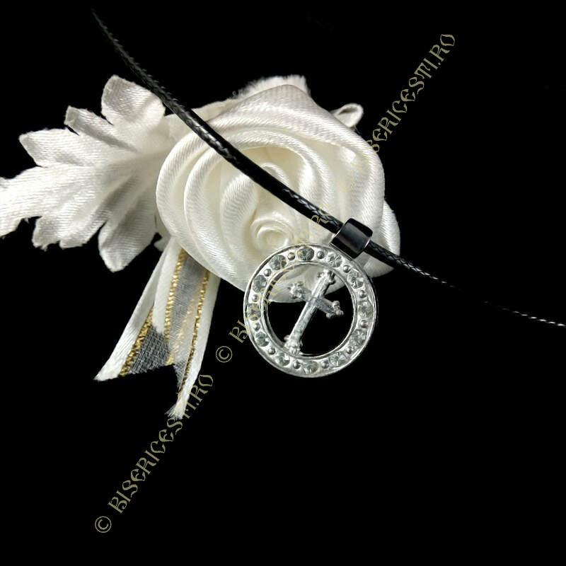Obiecte bisericesti | Colier medalion rotund metalic  | 1808