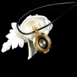 Obiecte bisericesti | Colier medalion oval metalic cu cruce | 1816