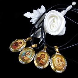 Obiecte bisericesti | Colier medalion oval Icoana Maicii Domnului | 1817