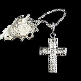 Obiecte bisericesti | Colier cruce metalica filigranata | 1823