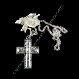 Obiecte bisericesti   Colier cruce metalica filigranata   1823