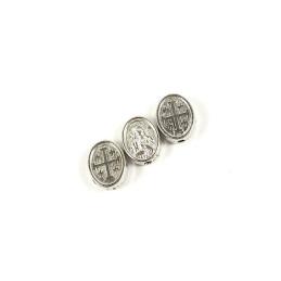 Obiecte bisericesti bile | Margele ovale de trecere 10mm | 6013