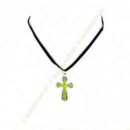 Obiecte bisericesti | Colier cruce metalica lacuita partial | 1831