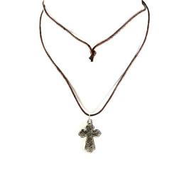 Obiecte bisericesti | Colier cruce metalica  | 1842