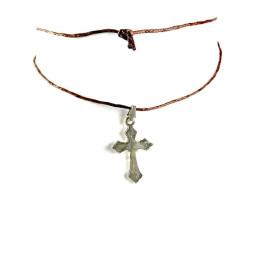 Obiecte bisericesti | Colier cruce metalica  | 1843