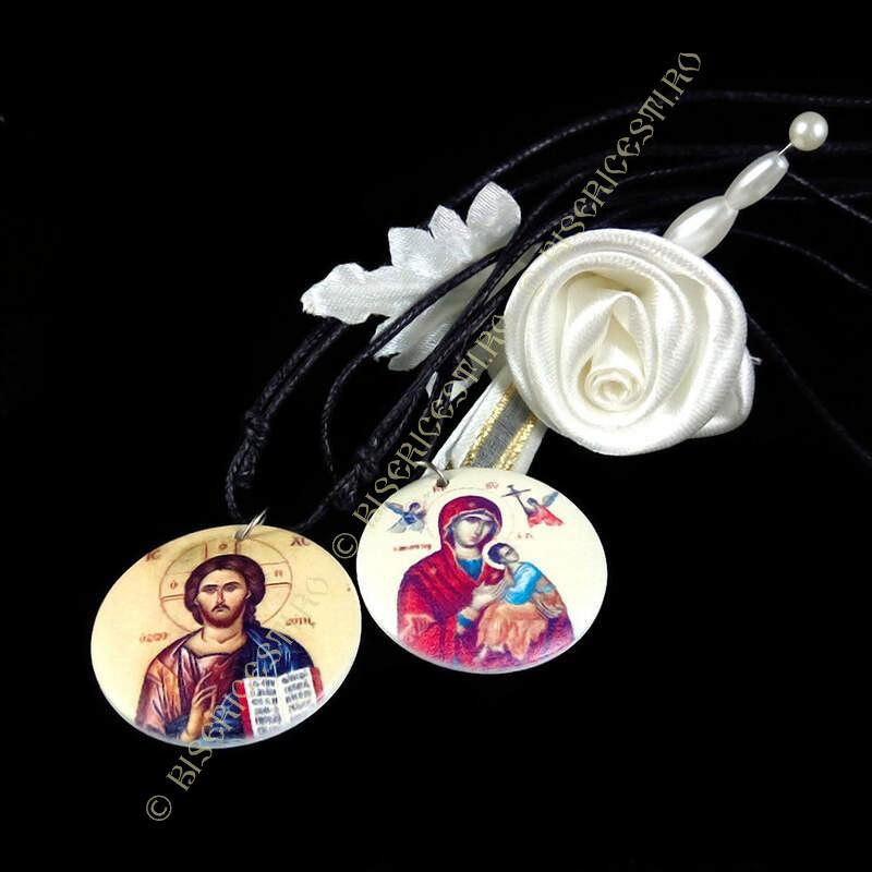 Obiecte bisericesti | Colier medalion rotund din plastic | 1844