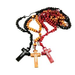 Obiecte bisericesti | Colier bile si cruce din lemn | 1845