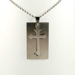 Obiecte bisericesti | Colier placuta din inox | 1847