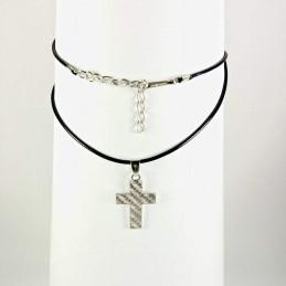 Obiecte bisericesti | Colier cruce metalica | 1848