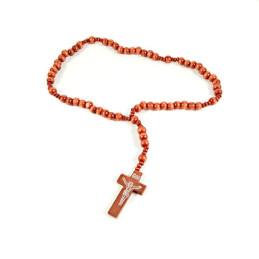 Obiecte bisericesti | Colier bile si cruce din lemn | 1855