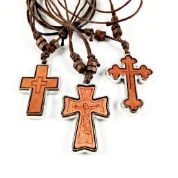Obiecte bisericesti | Colier cruce din lemn  | 1856
