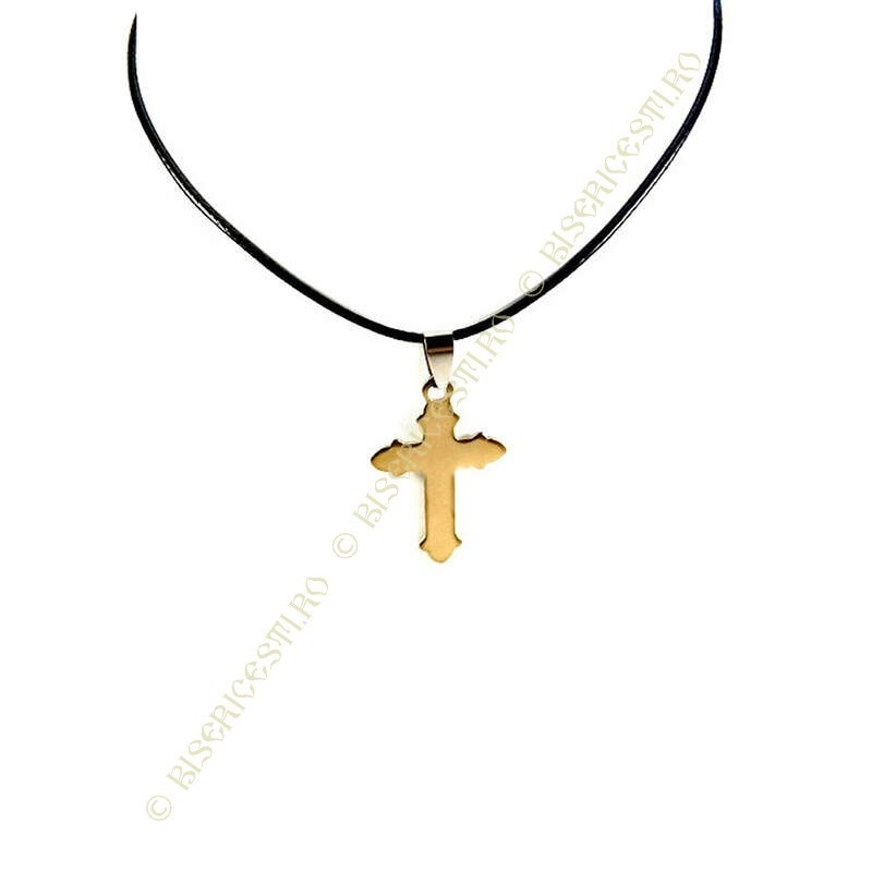 Obiecte bisericesti | Colier cruce din inox | 1859