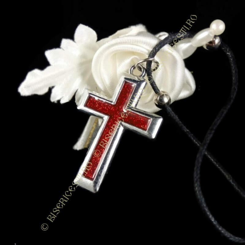Obiecte bisericesti | Colier cruce metalica | 1862