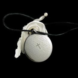 Obiecte bisericesti | Colier medalion rotund din inox | 1865