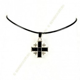 Obiecte bisericesti | Colier cruce metalica Ierusalim | 1867
