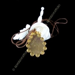 Obiecte bisericesti | Colier medalion metalic oval cu iconita | 1868
