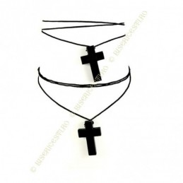 Obiecte bisericesti | Colier cruce din lemn | 1869
