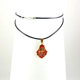 Obiecte bisericesti | Colier medalion Icoana Maicii Domnului | 1871