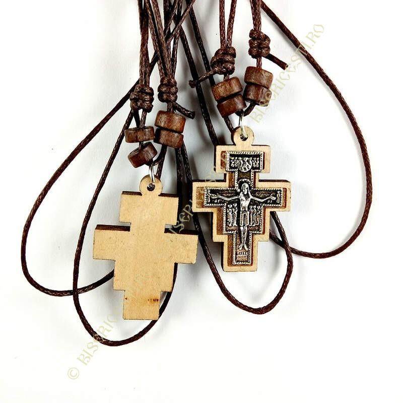 Obiecte bisericesti | Colier cruce din lemn | 1873