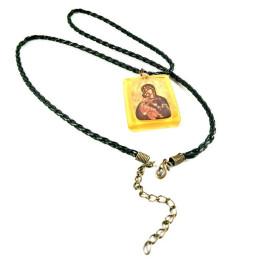Obiecte bisericesti | Colier medalion Icoana Maicii Domnului din plastic  | 1875