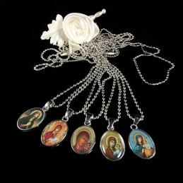 Obiecte bisericesti | Colier medalion metalic oval | 1878