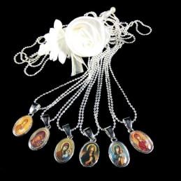 Obiecte bisericesti | Colier medalion metalic oval | 1879