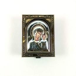 Obiecte bisericesti | Cutie cu Icoana Maicii Domnului din plastic 7cm | 5801