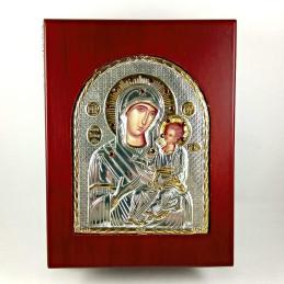Obiecte bisericesti | Cutie cu Icoana Maicii Domnului din lemn 23cm | 5803