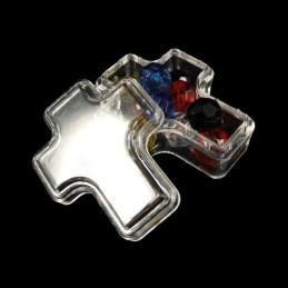 Obiecte bisericesti | Cutie cu forma cruce din plastic 45mm | 5804