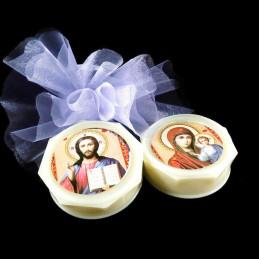 Obiecte bisericesti | Cutie cu Icoana Maicii Domnului din plastic 55mm | 5806