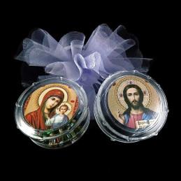 Obiecte bisericesti | Cutie cu Icoana Maicii Domnului din plastic 55mm | 5807
