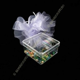 Obiecte bisericesti | Cutie cu patrata din plastic 3cm | 5809