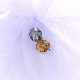 Obiecte bisericesti bile | Margele rotunde de trecere 10mm | 6021