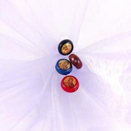 Obiecte bisericesti bile | Margele rotunde de trecere 12mm | 6023